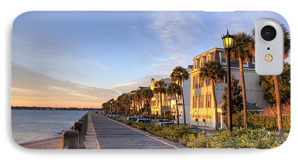 Charleston East Battery Row Sunrise IPhone Case by Dustin K Ryan