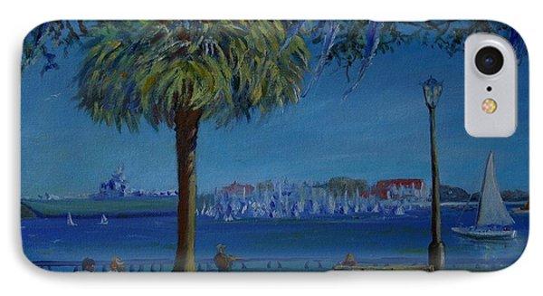 Charleston Harbor Sunday Regatta IPhone Case by Dorothy Allston Rogers