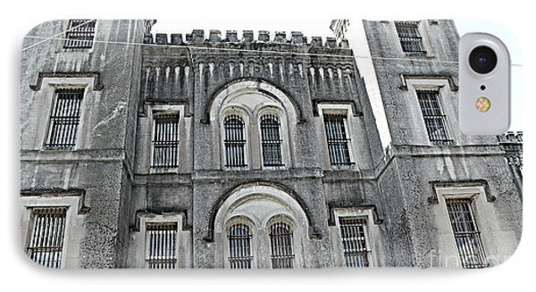IPhone Case featuring the photograph Charleston Historical Haunted Old Jail House - Charleston Old Jail Civil War Architecture  by Kathy Fornal