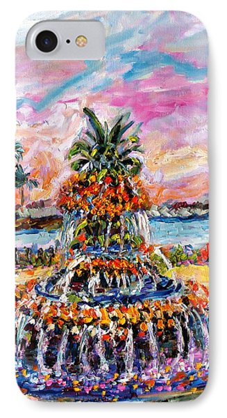 Charleston Pineapple Fountain Sc IPhone Case