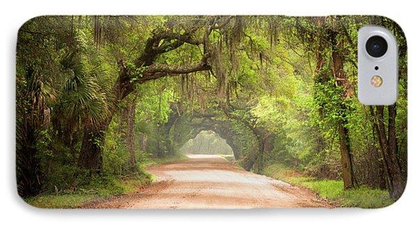 Sunlight iPhone 7 Case - Charleston Sc Edisto Island Dirt Road - The Deep South by Dave Allen