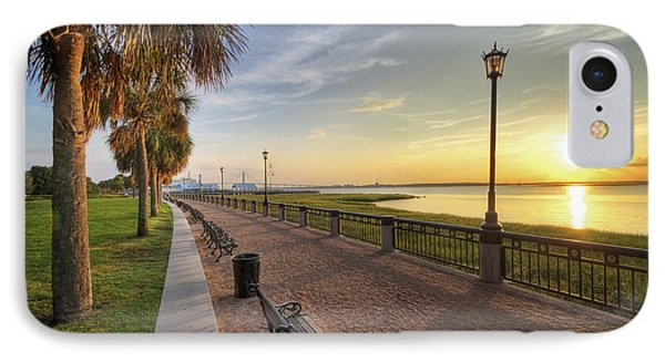 Charleston Sc Waterfront Park Sunrise  IPhone Case by Dustin K Ryan