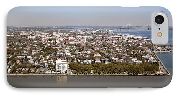 Charleston South Carolina Battery Waterfront Aerial IPhone Case by Dustin K Ryan