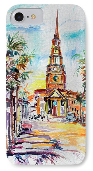 IPhone Case featuring the painting Charleston South Carolina Episcopal Church by Ginette Callaway