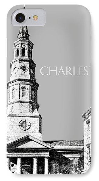 Charleston St. Phillips Church - Silver        IPhone Case by DB Artist