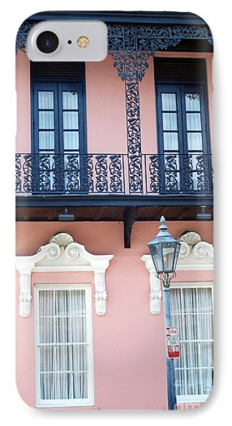 Charleston The Mills House Lace Balconies And Window Architecture - Charleston Historical District IPhone Case by Kathy Fornal