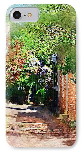 IPhone Case featuring the photograph Charlestons Alley by Donna Bentley