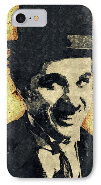 Charlie Chaplin Illustration IPhone Case