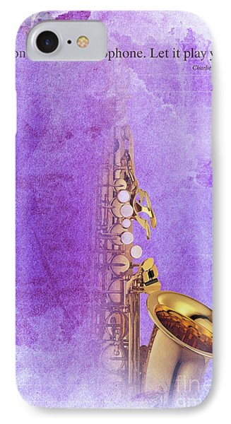 Charlie Parker Saxophone Purple Vintage Poster And Quote, Gift For Musicians IPhone 7 Case