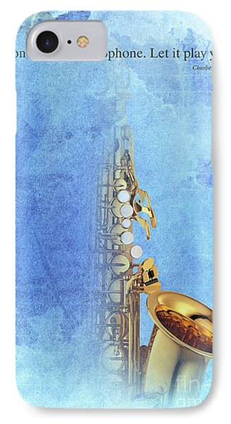 Charlie Parker Saxophone Vintage Poster And Quote, Gift For Musicians IPhone 7 Case by Pablo Franchi