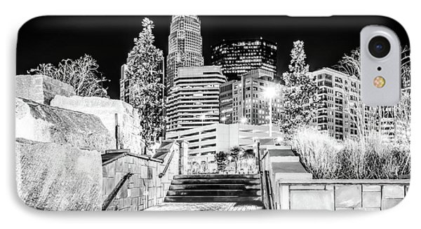 Charlotte At Night Black And White Photo IPhone Case by Paul Velgos