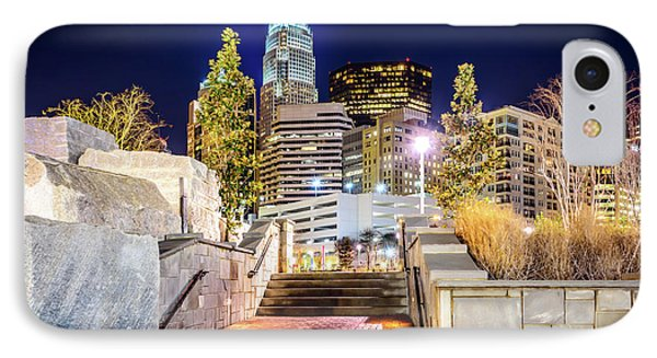 Charlotte At Night With Romare Bearden Park IPhone Case by Paul Velgos