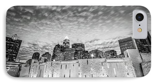 Charlotte Bearden Park Waterfall Black And White Picture IPhone Case by Paul Velgos