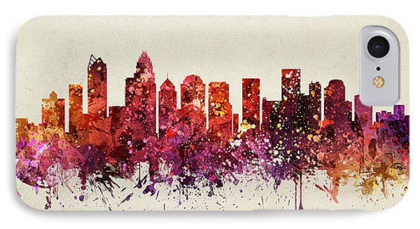 Charlotte Cityscape 09 IPhone Case
