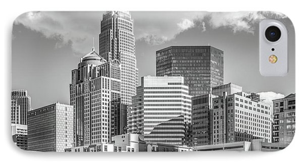Charlotte Downtown Black And White Photo IPhone Case