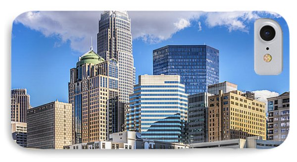 Charlotte Downtown City Buildings Photo IPhone Case by Paul Velgos