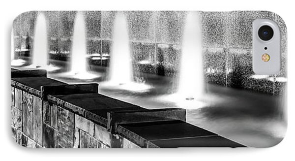 Charlotte Fountain Black And White Panorama Photo IPhone Case by Paul Velgos