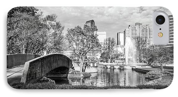 Charlotte Marshall Park Black And White Photo IPhone Case by Paul Velgos