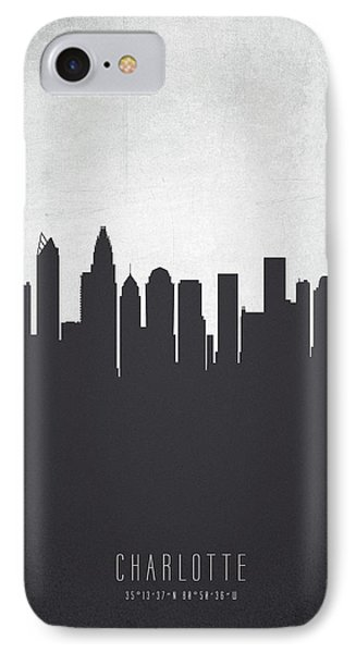 Charlotte North Carolina Cityscape 19 IPhone Case by Aged Pixel
