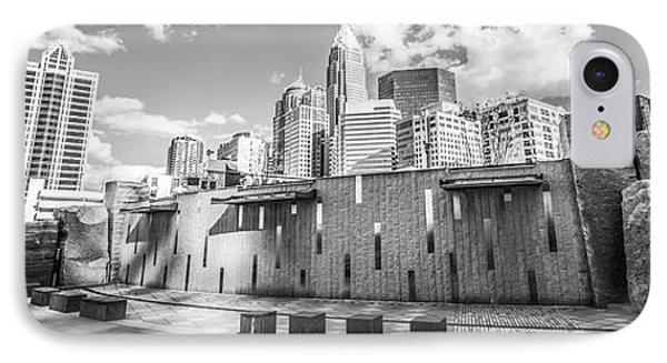 Charlotte Panorama Black And White Photo IPhone Case