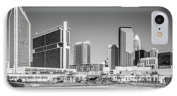 Charlotte Skyline Black And White Picture IPhone Case by Paul Velgos
