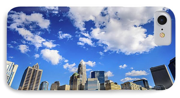Charlotte Skyline Blue Sky And Clouds IPhone Case by Paul Velgos