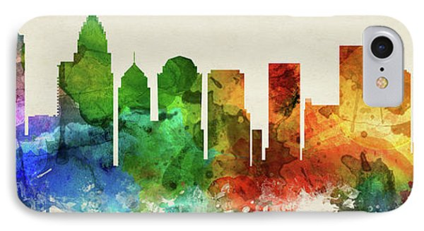 Charlotte Skyline Panorama Usncch-pa03 IPhone Case