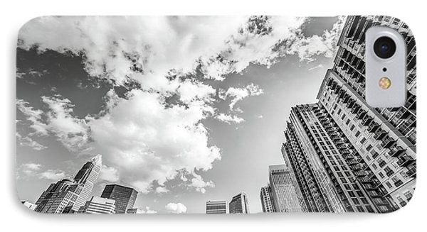 Charlotte Skyline Wide Angle Black And White Photo IPhone Case