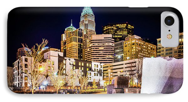 Charlotte Skyline With Romare Bearden Park At Night IPhone Case