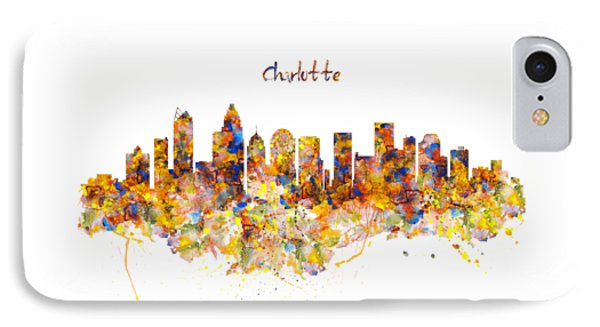 Charlotte Watercolor Skyline IPhone Case
