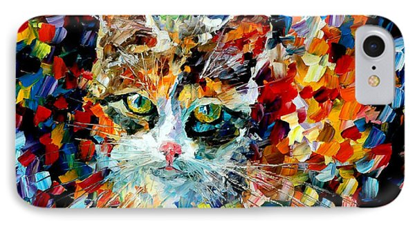Charming Cat Phone Case by Leonid Afremov