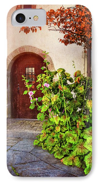 Charming Old Door In Basel  IPhone Case