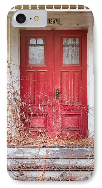 IPhone Case featuring the photograph Charming Old Red Doors Portrait by Gary Heller