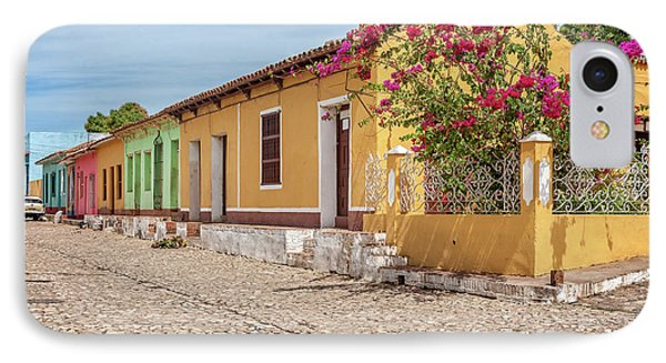 Charming Street Corner In Trinidad, Cuba IPhone Case by Daniela Constantinescu