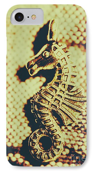 Seahorse iPhone 7 Case - Charming Vintage Seahorse by Jorgo Photography - Wall Art Gallery