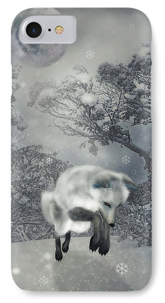 Chasing Snowflakes IPhone Case by KaFra Art