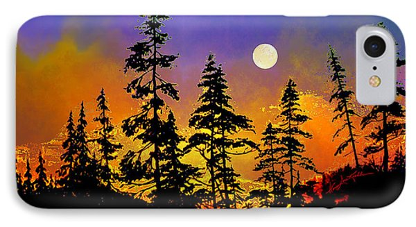 Chasing The Moon Phone Case by Hanne Lore Koehler