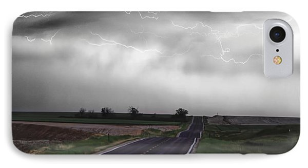 Chasing The Storm - Bw And Color Phone Case by James BO  Insogna