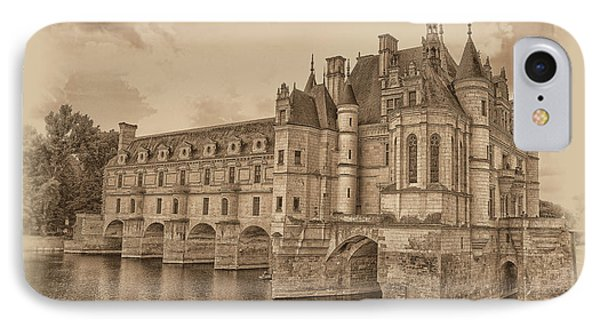 Chateau De Chenonceau IPhone Case by Nigel Fletcher-Jones