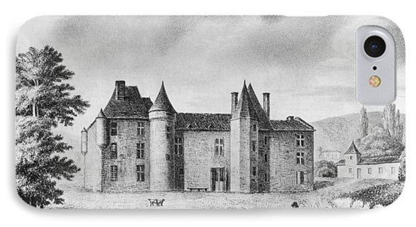 Chateau De Montaigne IPhone Case