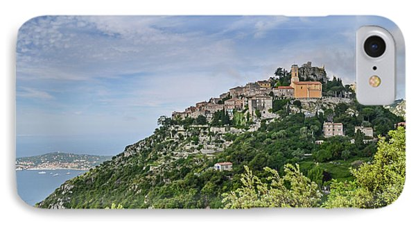 IPhone Case featuring the photograph Chateau D'eze On The Road To Monaco by Allen Sheffield