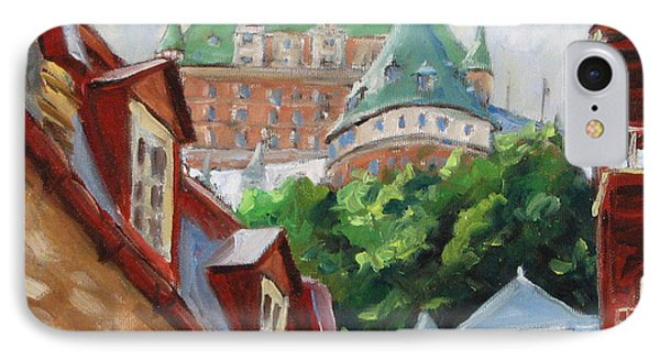 Chateau Frontenac IPhone Case by Richard T Pranke