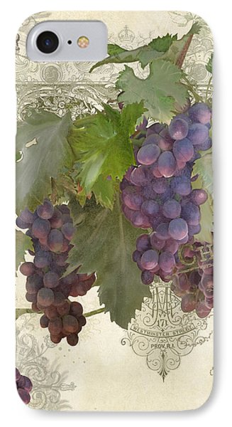 Chateau Pinot Noir Vineyards - Vintage Style IPhone Case
