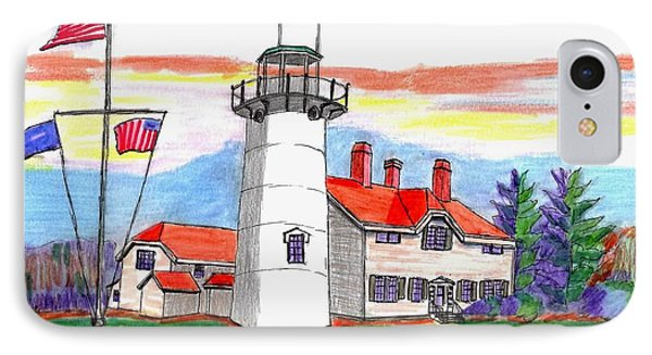 Chatham Lighthouse IPhone Case by Paul Meinerth