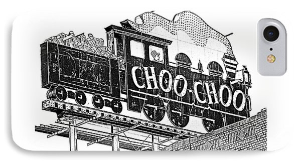 Chattanooga Choo Choo Sign In Black And White IPhone Case