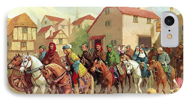 Chaucer's Pilgrims IPhone Case by van der Syde