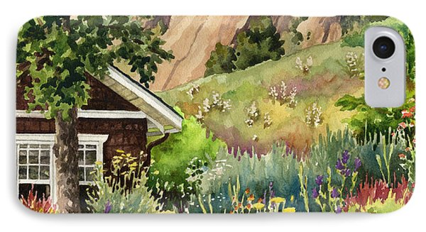 IPhone Case featuring the painting Chautauqua Cottage by Anne Gifford