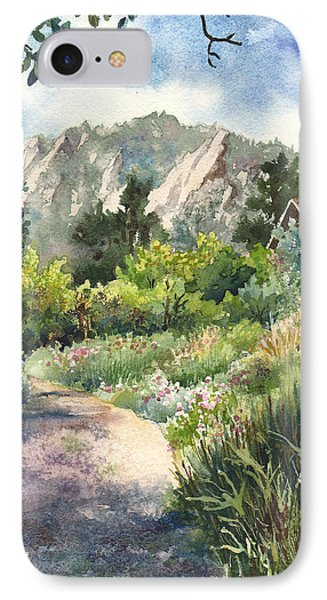 IPhone Case featuring the painting Chautauqua Morning by Anne Gifford