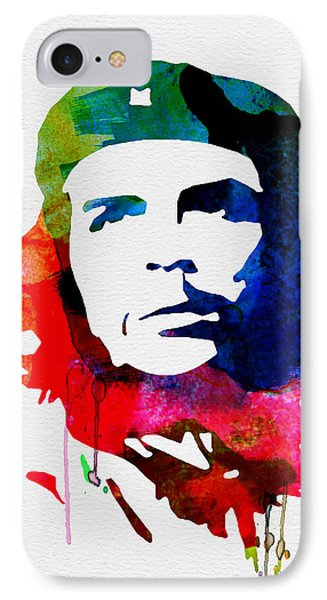 Che Guevara Watercolor 2 IPhone Case by Naxart Studio