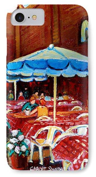 Checkered Tablecloths Phone Case by Carole Spandau